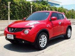 NISSAN JUKE 1.6 V XTRONIC CVT ปี 2014 สีแดงBurning red(นิยมสุด) รถมือสองราคาดี