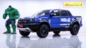 1O-71 Ford RANGER 2.0 Raptor BT-TURBO  4WD 4DR ปี รถกระบะ สีน้ำเงิน เกียร์ AT ปี 2019