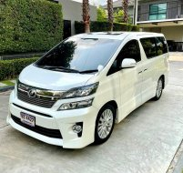 #Toyota Vellfire 2.4v ZG สีขาว ปี 2013 ไมล์ 80,000 กม.